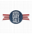 Memorial Day Sale greeting Sign and Ribbon vector image vector image