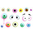 monsters eyes collection clipart vector image