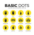 mouse and keyboard flat icons set vector image vector image