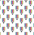 Multicolor pencil seamless pattern vector image vector image