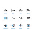music and audio types duotone icons on white vector image vector image