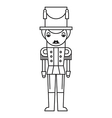 Nutcracker Outlined Silhouette vector image vector image