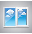object window sky vector image