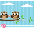 owl couple vector image vector image