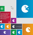 pac man icon sign buttons Modern interface website vector image