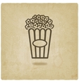 popcorn old background vector image