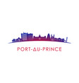 port-au-prince skyline silhouette design vector image vector image