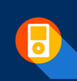 portable music device white icon on vector image
