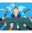 Press conference world live tv news interview vector image vector image