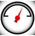 pressure gauge generic dial template graphic vector image vector image