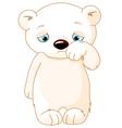 Sad Polar Bear vector image vector image
