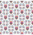 seamless color decorative flower pattern vector image vector image