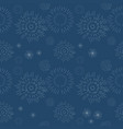 seamless geometric pattern fireworks on blue vector image vector image