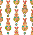 Seamless pattern with Easter bunny-3 vector image vector image