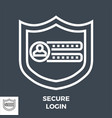 secure login line icon vector image vector image