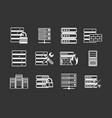 server icon set grey vector image