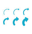 set arrows and directions signs right blue vector image