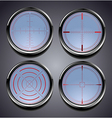 Set of four different crosshairs vector image vector image