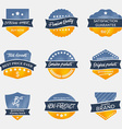 Set of vintage badges in retro style vector image
