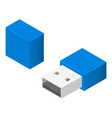 small usb flash icon isometric style vector image