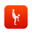 soccer player man icon digital red vector image vector image