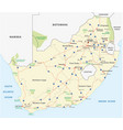 south africa road map vector image vector image