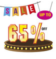 special 65 offer sale tag isolated vector image vector image