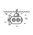 submarine icon on white background logo vector image vector image