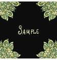 Template for menu greeting card invitation or vector image vector image