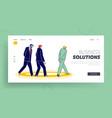 thoughtful business men walking in circles landing vector image vector image