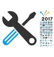 Tools Icon With 2017 Year Bonus Symbols vector image vector image