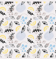 trendy abstract floral seamless pattern vector image