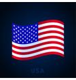 usa flag waving national flag italy isolated vector image vector image