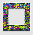 vibrant square frame in modern art style wavy vector image vector image