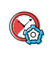 watch time with gear pinion vector image vector image