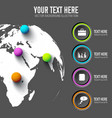 web infographic template vector image