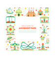 welcome to amusement park banner template vector image