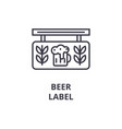 beer label line icon outline sign linear symbol vector image
