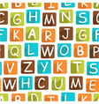 seamless pattern with funny alphabet vector image