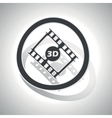 3D movie sign sticker curved vector image vector image