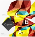 3d polygonal object triangles abstract background vector image vector image