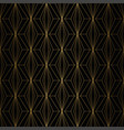 art deco pattern seamless gold and black vector image vector image