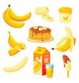banana food fruit products dessert juice cake vector image