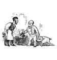 barber barber shave a pig vintage vector image vector image