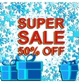 Big winter sale poster with SUPER SALE 30 PERCENT vector image vector image