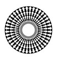 black and white arrows in circle vector image vector image