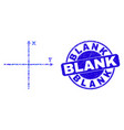 blue distress blank stamp and cartesian axes vector image vector image