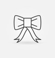 bow concept icon in thin line style vector image