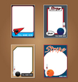 Bowling Cards vector image vector image