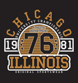 chicago illinois typography for t-shirt vector image vector image